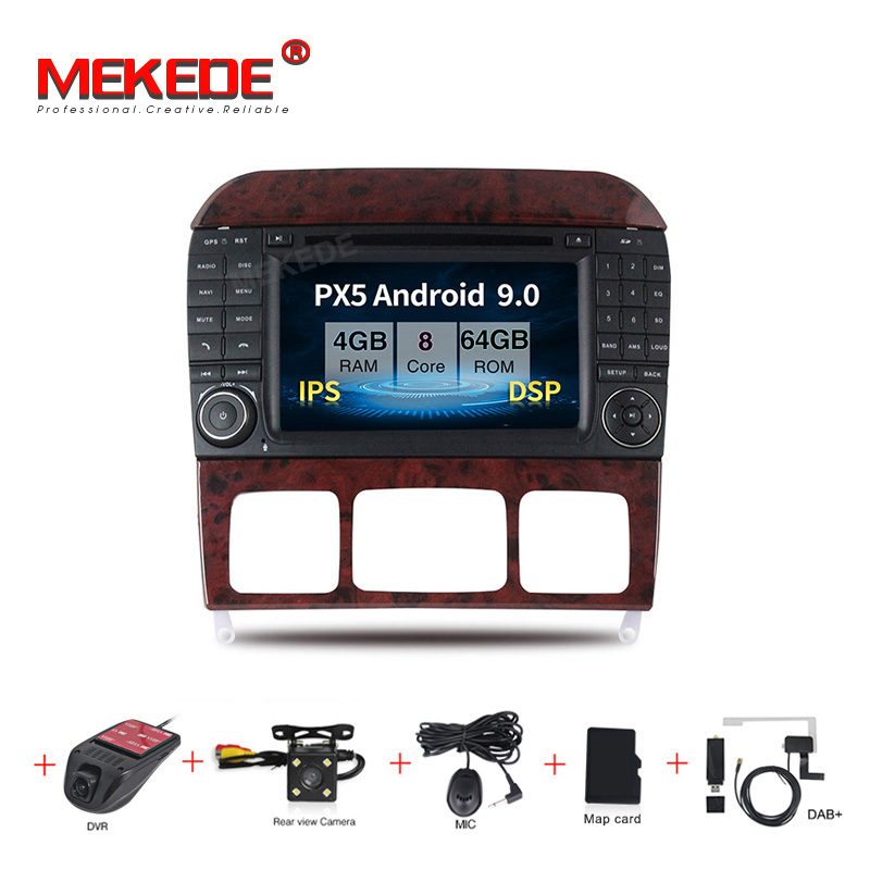 PX5 Android 9.0 8 core Car Multimedia DVD <font><b>GPS</b></font> player <font><b>for</b></font> Benz S Class W220 S280 S420 S430 S320 S350 S400 S500 <font><b>S600</b></font> 4G RAM image