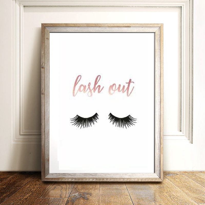 Lash canvas prints