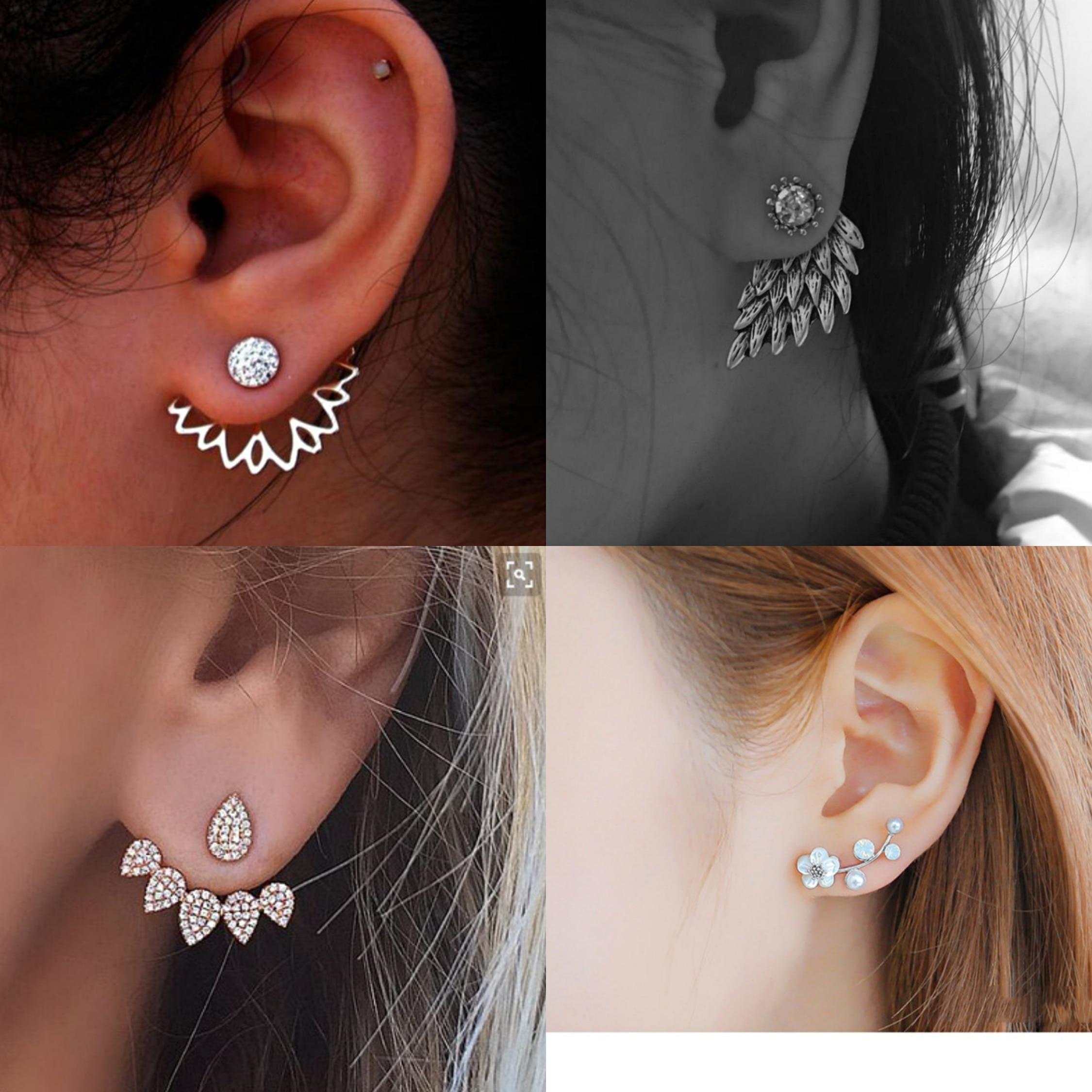 2019 New Crystal Flower Drop Earrings For Women Fashion Jewelry Gold Silver Rhinestones Earrings Gift For Party Best Friend