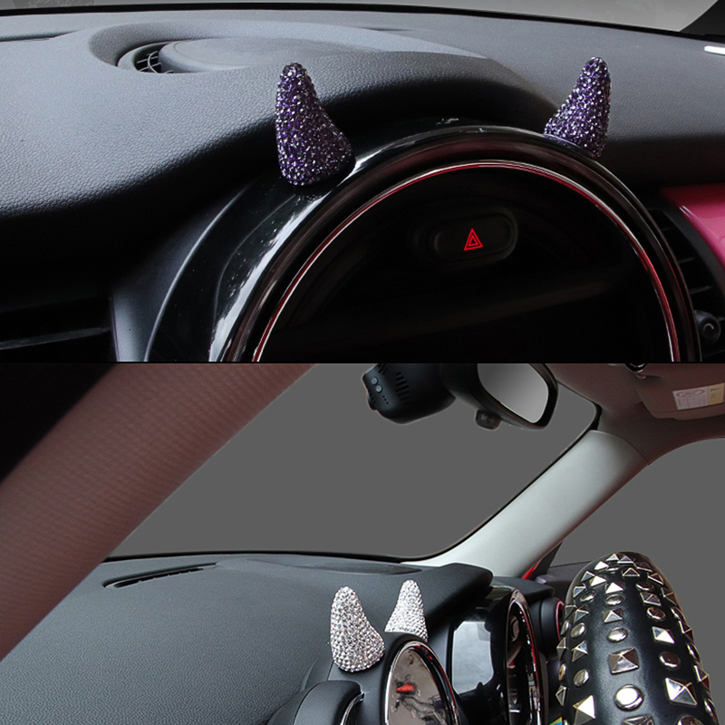 cheapest Car Creative Ornament Auto Interior styling Sticker For MINI COOPER F54 F55 F56 F60 R55 R60 R61 Car accessories interior 2pcs