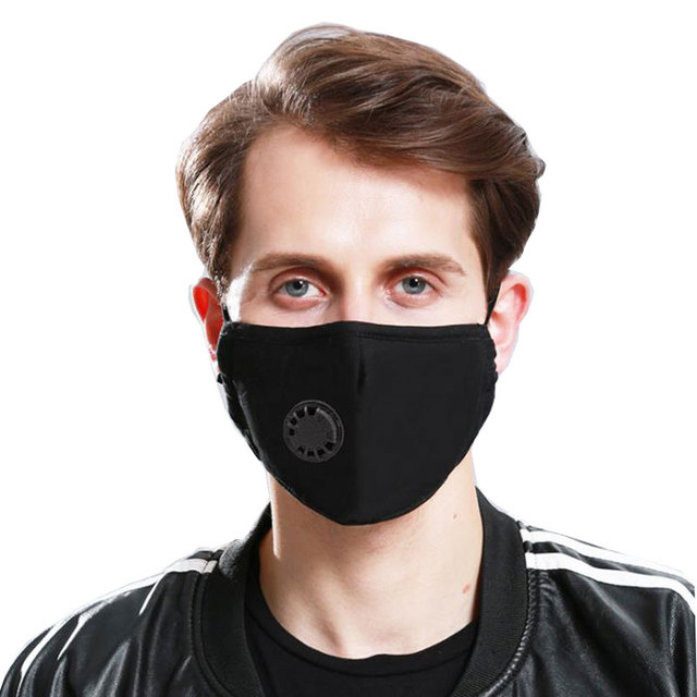 PM2.5 Anti Pollution Mask Air Filter Activated Carbon Fabric Mouth Face Mask Respirator Anti Haze Anti Allergy Flu Dust Mask 1