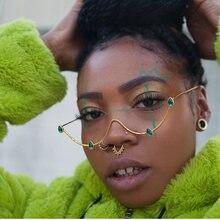 Красно зеленые украшения оправа для очков с бриллиантами стразы