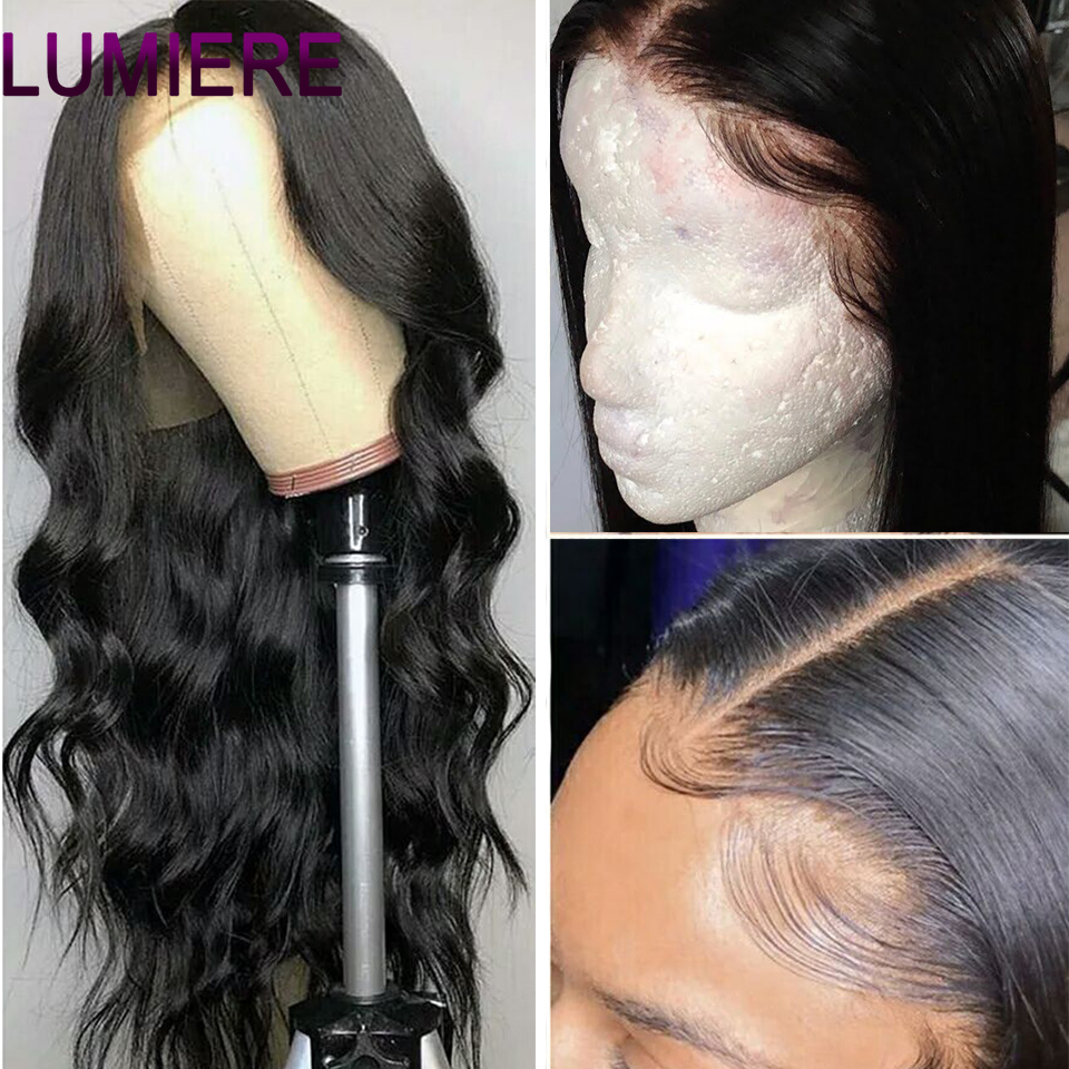 Lumiere Hair 13X4 Lace Front Human Hair Wig Brazilian Body Wave Lace Wig With Baby Hair Natural Hairline Non-Remy Hair