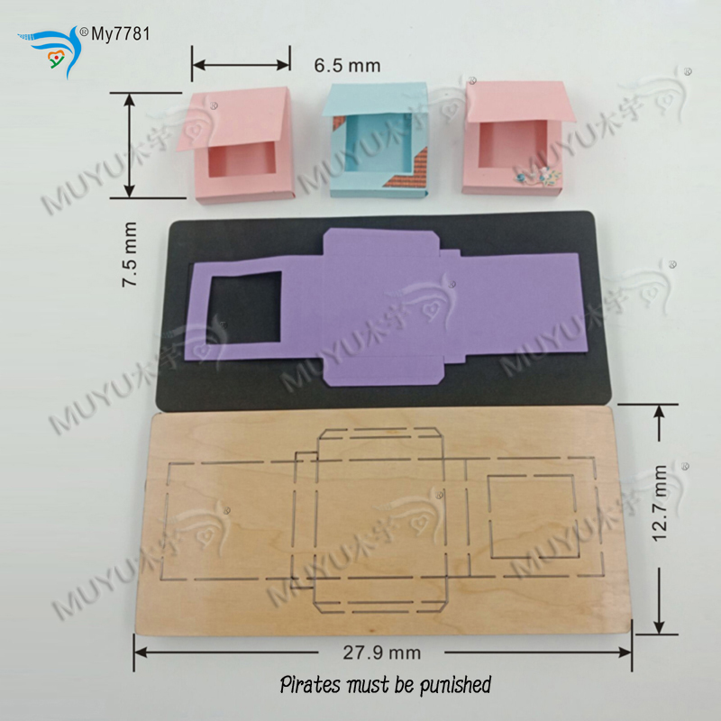 Image 4 - chocolate sauce box muyu cutting die   new wooden mould cutting dies for scrapbooking MY7781Cutting Dies   -