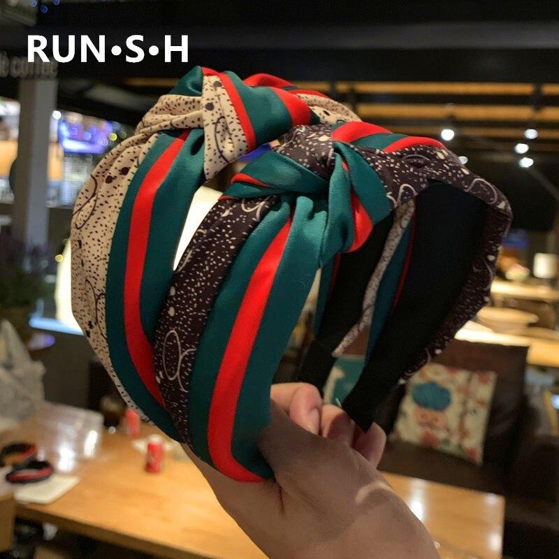 2019 New Fashion Brand Headband Women Retro Bezel Headband Bows Knot Headband Sweet Girls Lol Personality Design Accessories
