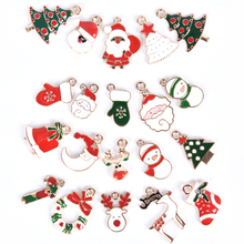 20 Pcs/Set Kids Santa Claus Snowman Jewelry Pendants Dainty Christmas Charms Pendant Charms For DIY Jewelry Making