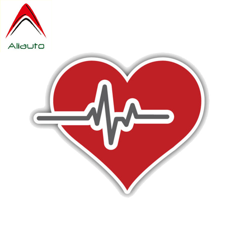Aliauto Personality Car Sticker Cute Heart Medicine Symbol Emblem Accessories PVC Decal for Mercedes Benz Skoda Fabia,12cm*10cm(China)