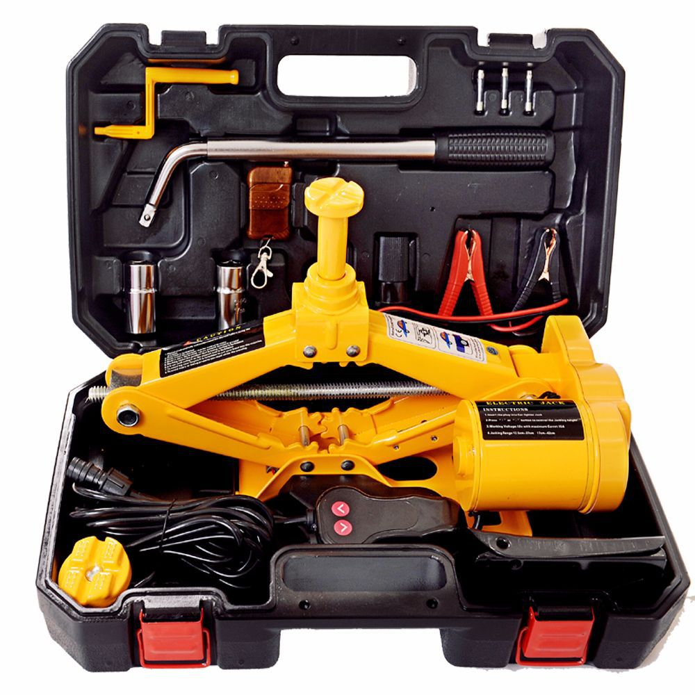 Cross Border Supply ZS3 Tons 37 42 Cm Jack Hydraulic Horizontal Electrical Jack Toolbox