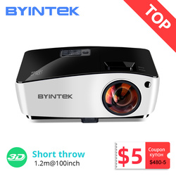 BYINTEK K5 Short Throw 4000ANSI Full HD 1080P Video DLP 3D Overhead Projector Beamer For Daylight Classroom Education Office