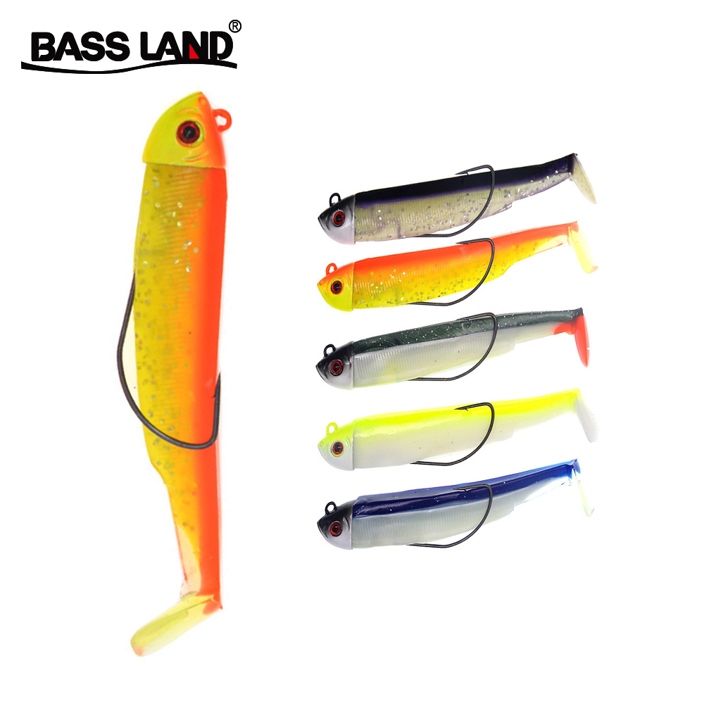 Bassland New Black Minnow 30g15g Brochet Jig Head Fishing Lure Soft Bait T Tail Lead Head Hook Sea Fishing Bass Pike Perch Pesca