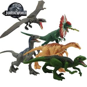12-17cm Jurassic World Toys Attack Pack Velociraptor Blue Figure Dimorphodon Gallimimus Dragon PVC Action Figure Model Dolls Toy(China)