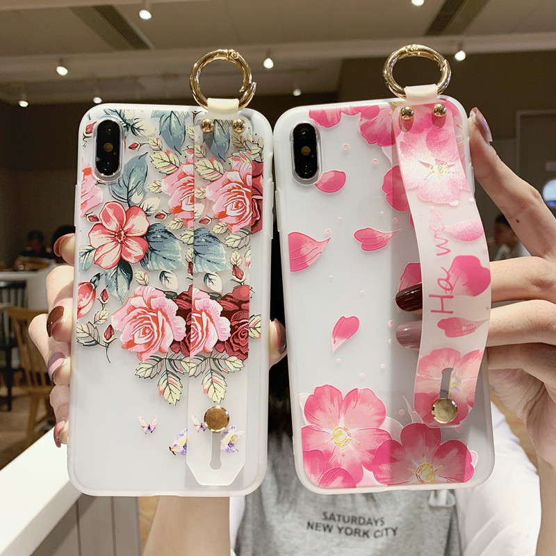 Wrist Strap Phone Holder Case For Samsung Galaxy S8 S9 S10 S20 Plus Ultra S10E Note8 Note9 Note10 + A10 A20 A30 A50 A70 A51 A71