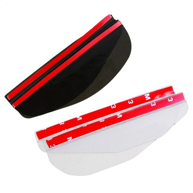 2pcs/lot Universal Flexible PVC Car Accessories Rearview Mirror Rain Shade Rainproof Blades Car Back Mirror Eyebrow Rain Cover 1