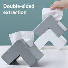 Креативная нордическая домашняя тканевая коробка офисный угловой лоток простая настольная бумага полотенце коробка для хранения WF807452