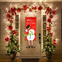 Feliz natal decorações para casa ornamentos guirlanda ano novo noel alpendre sinal decoração da porta de natal pendurado pano navidad presentes