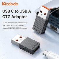 Mcdodo adattatore da USB A A tipo C per auto usb Laptop auricolare adattatore USB 5A ricarica rapida per Samsung Xiaomi 10 trasmissione dati