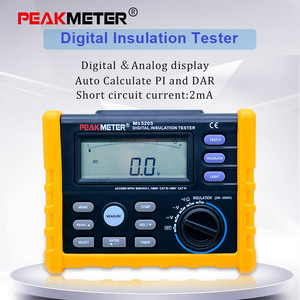 Image 1 - Digital Resistenza di Isolamento Tester Del Tester MS5205 Multimetro Analogico E Digitale Megohm Meter 0.01 100G Ohm 250 V  2500V