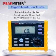 Medidor de resistencia de Aislamiento Digital MS5205, multímetro analógico y Digital, medidor Megohm 0,01 100G ohm 250V 2500V