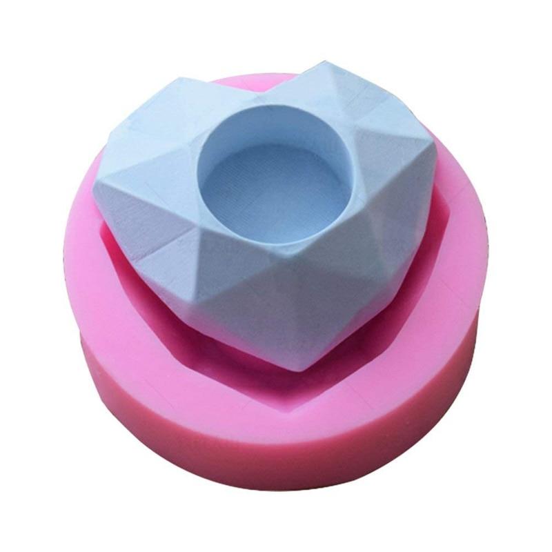 1 PC Heart Flower Pot Silicone Mold   Succulent Plant Vase Gypsum Cement Molds Concrete Clay Mould  Ashtray Resin Moulds  Candle|Nursery Pots| |  - title=