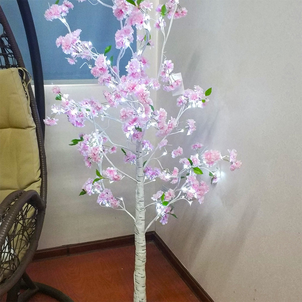 Dropship LED Light Christmas Decorations Home Waterproof Cherry Trees Festival Modern Indoor Tree Light Simulation Flower Lamp