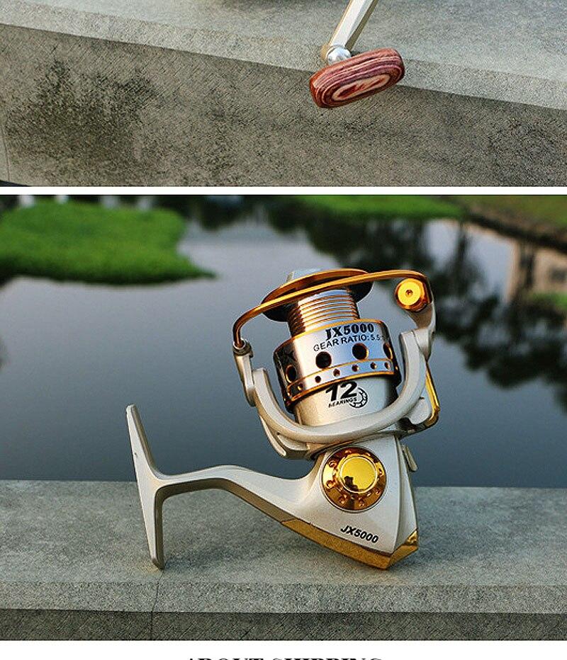Molinete para pesca com 12 esferas de