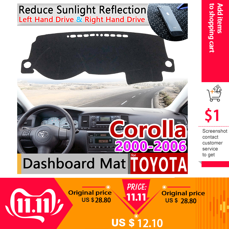 For Toyota Corolla E120 E130 2000~2006 Anti-Slip Mat Dashboard Cover Pad Sunshade Dashmat Carpet Car Accessories 120 130 2005