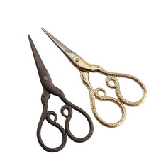 Paper Cutting Embroidery Scissors Chinese Zodiac Snakes Vintage Sewing Stainless Professional Tailor