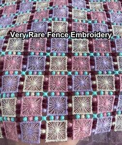 Image 3 - 非常にヘビーソフトフレンチレーススーパーきちんと刺繍アフリカチュール生地 5 ヤード豪華なカジュアル時折伝統服