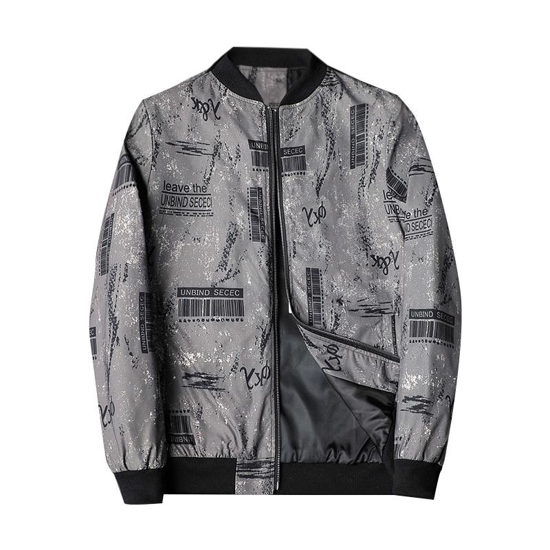 Fashion Spring 2021 New Print Jacket Mens Casual Slim Fit Pilot Coat Men Clothing Designer Clothes Plus Asian Size M- 5XL