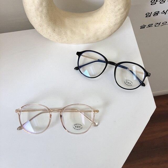 vwktuun tr90 анти синий светильник круглые очки оправа женский фотография