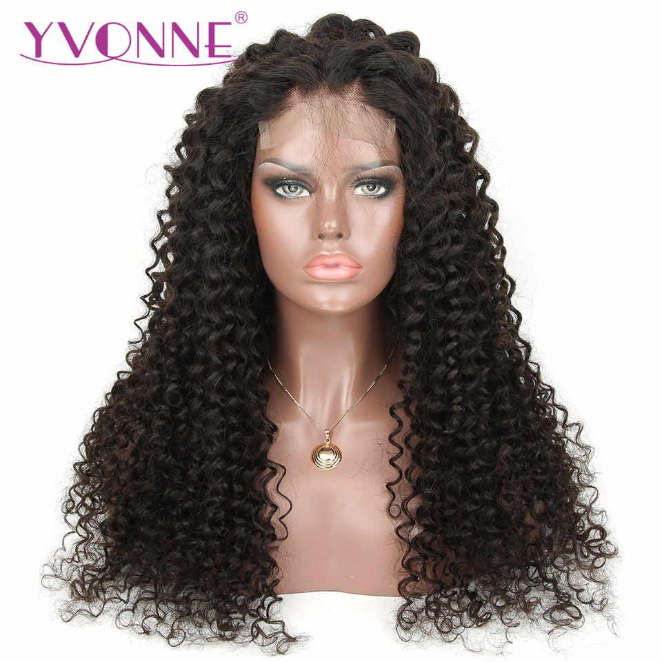 Pelucas brasileñas del pelo humano de la onda profunda de la peluca del cierre del cordón de Yonne DIY con el cierre 4x4