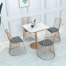 Cafe Restaurant Marble Table and Chair of The Nordic Golden Home Wrought Iron Table Buffet Restaurant Table Dining Room Table the buffet
