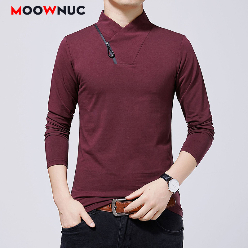 Hombre  Autumn Polos Mens Fashion Thick Plus Size Long sleeves Slim Business Casual Brand Polo 5XL Masculino Solid New MOOWNUC-in Polo from Men's Clothing on AliExpress - 11.11_Double 11_Singles' Day 1
