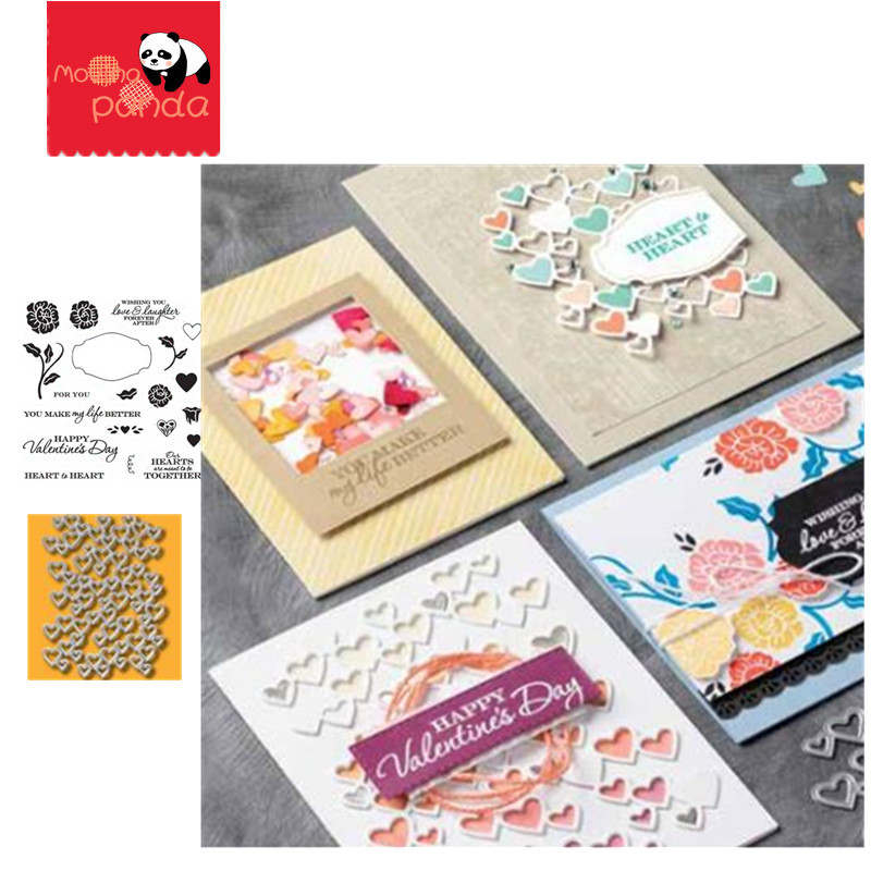 MP043 HEART Metal Cutting Dies And Stamps For DIY Scrapbooking Paper Cards Crafts New 2019