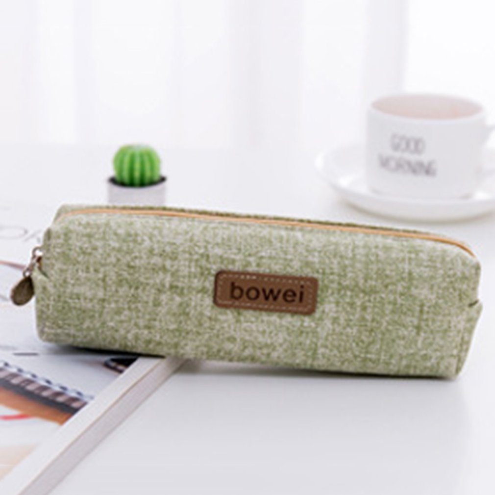 Creative Pencil Bag Canvas Korea Large Capacity Pencil Case Student Female Simple Pencil Case Pencil Bag