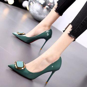 Ladies Square-Heel Pump Shoes