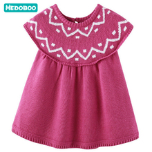 Medoboo Baby Girl Dress Autumn Spring Birthday Princess Party Dresses Infant Sweater Clothes Costume Toddler T-shirt Tops