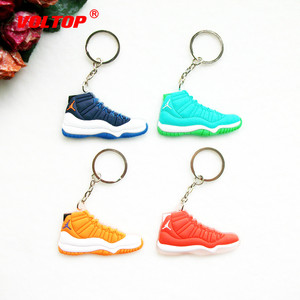Image 2 - Car Key Chain  Mini Silicone Jordan 11 Keychain Bag Charm Woman Men Kids Key Ring Gifts Sneaker Key Accessories Shoes