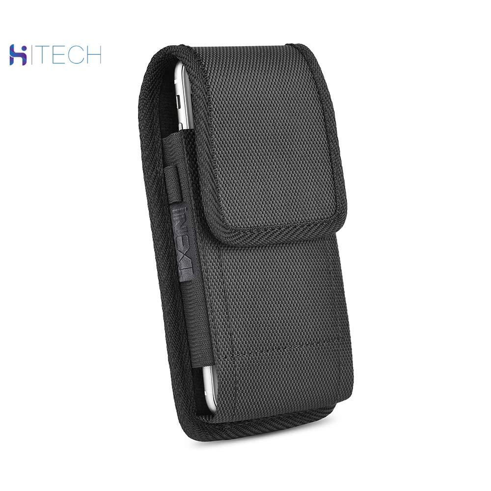 Oxford cloth cell phone <font><b>case</b></font> with carabiner Phone <font><b>Belt</b></font> Pouch <font><b>Case</b></font> Vertical Holster Clip Universal Flip Holder for Cell Phone image
