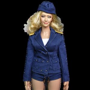 1/6 Schaal Vrouwelijke Kleding Accessoire Sexy Stewardess Uniform Vrouwen Zakelijke Kleding Voor 12