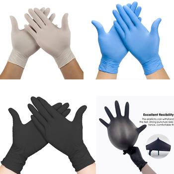 50 100 sztuk biały niebieski jednorazowe rękawice nitrylowe rękawiczki lateksowe dla gospodarstw domowych produkty czyszczące do mycia przemysłowego rękawiczki do tatuażu tanie i dobre opinie CN (pochodzenie) 70g disposable gloves latex nitrile Średniej grubości CZYSZCZENIE Lateks z gładką podszewką Cleaning gloves