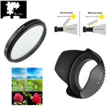 58mm UV filtre Lens Hood Canon EOS 2000D 4000D 1500D 3000D 90D 1300D 800D 750D Rebel T7 T100 T7i t6 T6i 18 55mm lens ile