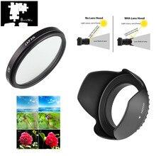 UV 58Mm Lens Hood Cho Canon EOS 2000D 4000D 1500D 3000D 90D 1300D 800D 750D Nổi Dậy T7 T100 t7i T6 T6i Với Ống Kính 18 55Mm