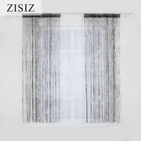 ZISIZ String Curtain  Luxury Crystal Curtain Flash Line Shiny Tassel String Door Curtain Window Room Divider Home Decoration|Curtains|Home & Garden -