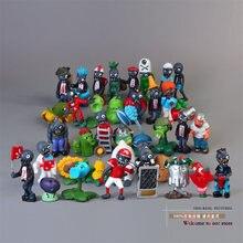 40 pçs/pçs/set plantas vs zombies 2.5-6.5cm pvc figuras pvz coleção brinquedos planta + zumbis bonecas presentes