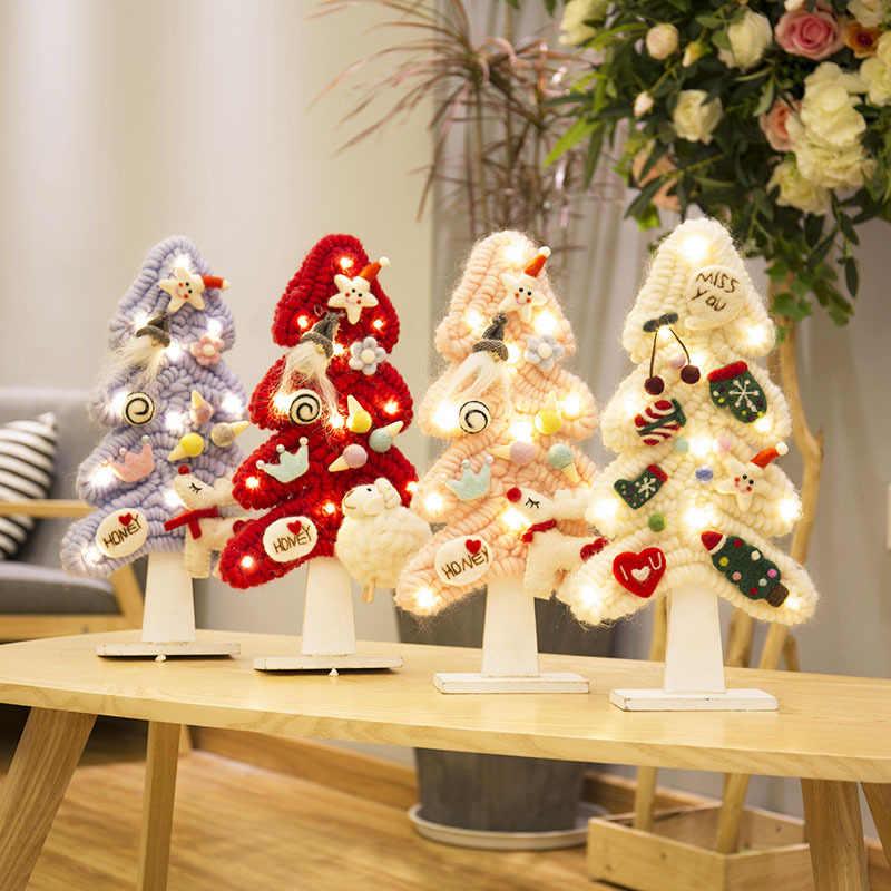 Korean And Japanese Wool Felt Christmas Tree Desktop Ornaments Decorations Diy Materials Celebrate Supplies Artificial Tree Aliexpress