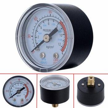 цена на High Quality 0-180PSI 0-12Bar 1/8 Male Thread Air Compressor Hydraulic Fluid Pressure Gauge For Air Compressor Iron