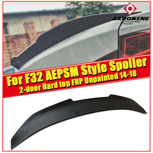 F32 2-doors Hard top PSM style Spoiler FRP Unpainted rear For BMW 420i 430i 435i 440i trunk wing 2014-2018