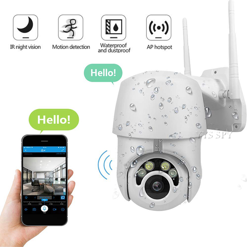 Waterproof IP Cam Wifi PTZ CCTV 3D Camera 2MP HD Video Surveillance Outdoor Home Security Infrared IR Night Vision Dome Camera