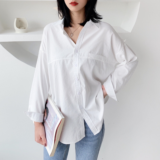 2020 Korean Women Blouse Casual Long Sleeve Womens Tops And Blouses Vintage Women Shirts Blusas Roupa Feminina Button Solid Tops 6